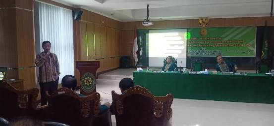 Rakor Tindak Lanjut ZI di PTA Palembang: Ketua PA Prabumulih Presentasi Laporan Pembangunan ZI Menuju WBK dan WBBM   (6/4)